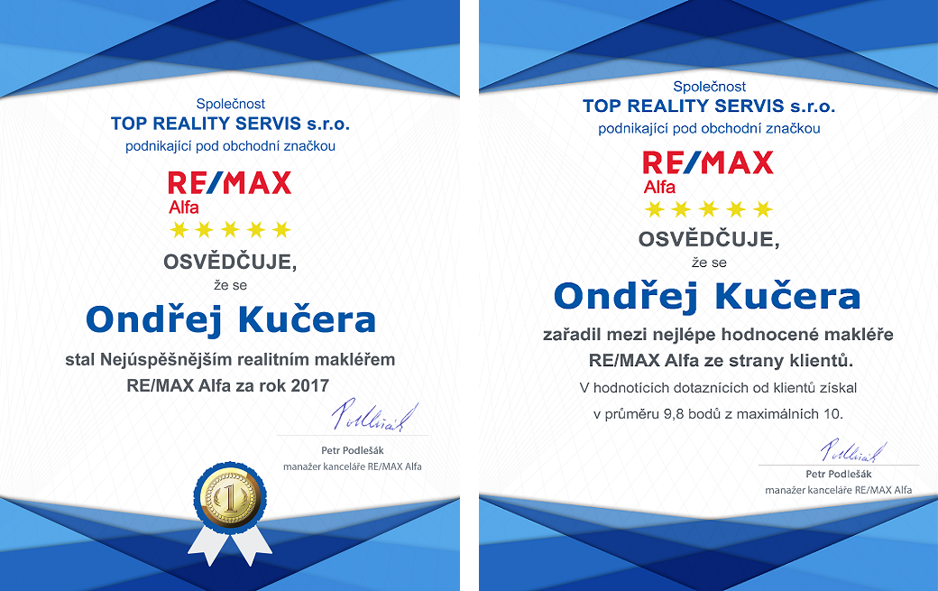 Především díky důvěře a trvalé přízni klientů patřím mezi nejlépe hodnocené makléře sítě RE/MAX ČR.