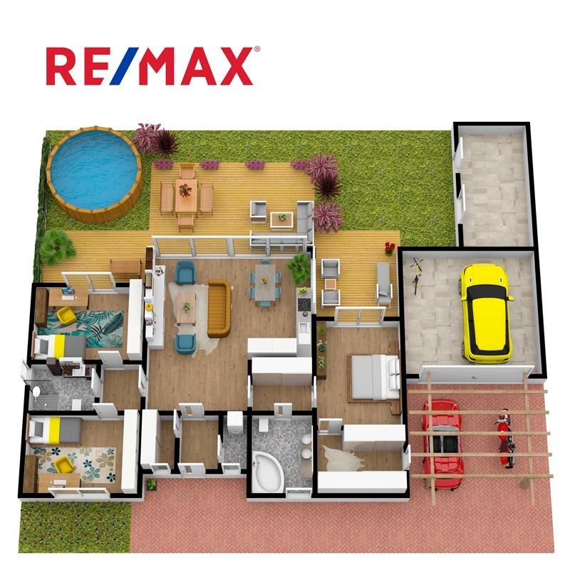 Půdorys nemovitosti 3D