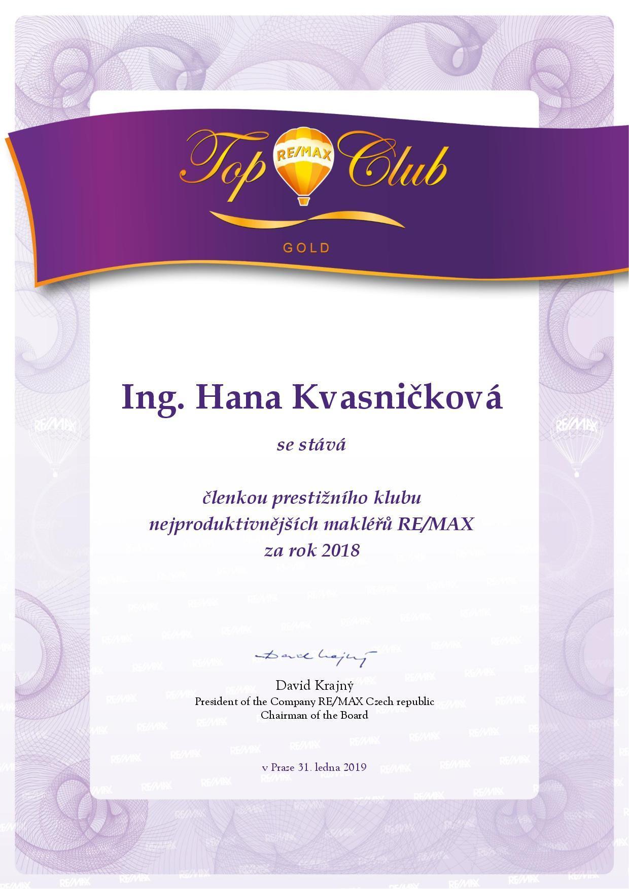 Člen Top club gold