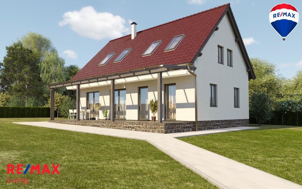 Vizualizace možné budoucí stavby na konkrétním nabízeném stavebním pozemku