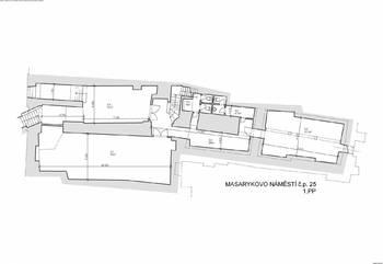 Půdorys - Pronájem obchodních prostor 210 m², Jihlava