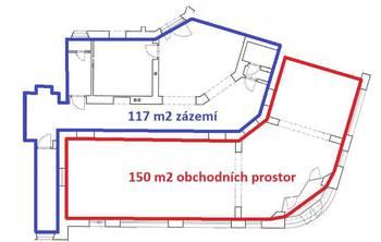 prostory k dispozici ... - Pronájem obchodních prostor 267 m², Havlíčkův Brod