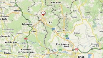 Mapa Ašského výběžku. - Prodej zemědělského objektu 6900 m², Krásná