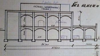 Náčrt systému kleneb. - Prodej zemědělského objektu 6900 m², Krásná