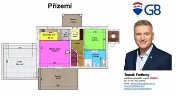 Půdorys - přízemí - Prodej chaty / chalupy 159 m², Chlum u Třeboně