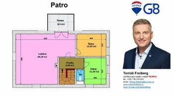 Půdorys - patro - Prodej chaty / chalupy 159 m², Chlum u Třeboně