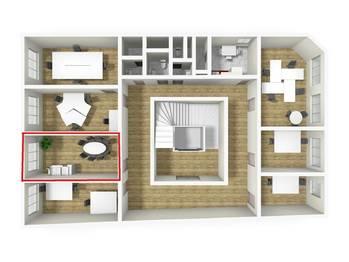 3D vizualizace - Pronájem kancelářských prostor 17 m², Broumov