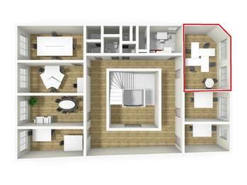 3D vizualizace - Pronájem kancelářských prostor 28 m², Broumov