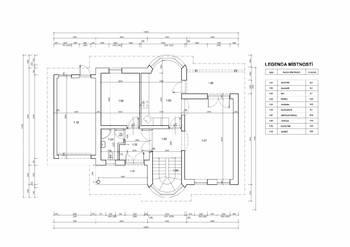 Půdorys 1.NP - Prodej domu 251 m², Římov