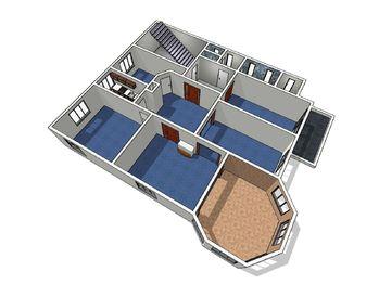 plánek - Pronájem kancelářských prostor 150 m², Jablonec nad Nisou