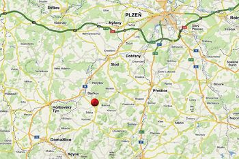 Mapa - Prodej pozemku 10600 m², Čermná