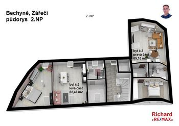 Prodej bytu 4+kk v osobním vlastnictví 128 m², Bechyně