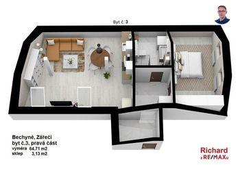Prodej bytu 4+kk v osobním vlastnictví 138 m², Bechyně