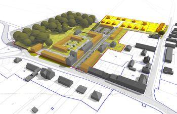 AXONO model - Prodej pozemku 17341 m², Chomutice