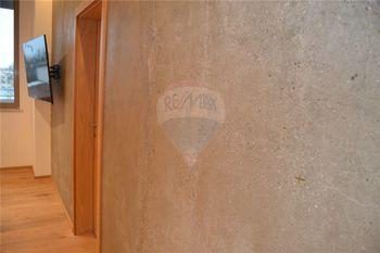 designová broušená betonová stěna - Pronájem bytu 2+kk v osobním vlastnictví 62 m², Prostějov