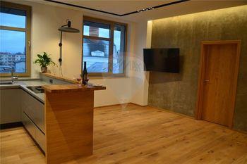 kuchyně a obytný prostor - Pronájem bytu 2+kk v osobním vlastnictví 62 m², Prostějov