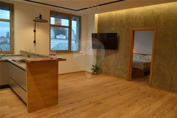 obytný prostor s kuchyní a ložnice - Pronájem bytu 2+kk v osobním vlastnictví 62 m², Prostějov