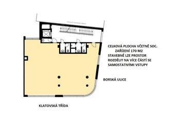 Pronájem kancelářských prostor 170 m², Plzeň