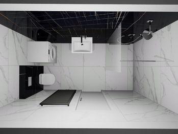 Vizualizace - koupelna - Prodej bytu 2+1 v osobním vlastnictví 54 m², Brno