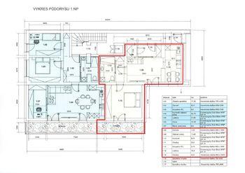 Plán bytu - půdorys - Prodej bytu 2+1 v osobním vlastnictví 54 m², Brno