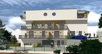 Vizualizace - boční pohled - Prodej bytu 2+1 v osobním vlastnictví 54 m², Brno