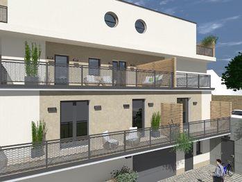 Vizualizace - šikmý pohled - Prodej bytu 2+1 v osobním vlastnictví 54 m², Brno