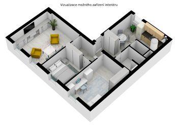 Prodej bytu 3+kk v osobním vlastnictví 76 m², Panoší Újezd