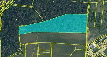 Zobrázení v ortofotomapě - Prodej pozemku 14749 m², Roztoky