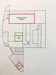 Plán areálu - Pronájem komerčního objektu 400 m², Světec
