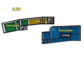 schéma II.NP - Pronájem komerčního objektu 649 m², Česká Lípa