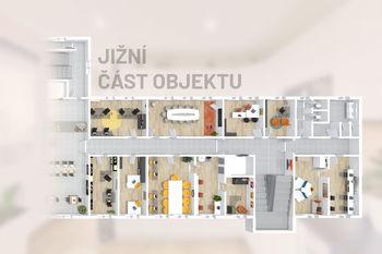 Jižní část budovy - Prodej obchodních prostor 4000 m², České Budějovice