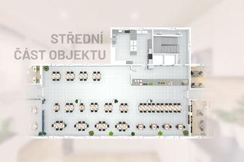 Střední část budovy - Prodej obchodních prostor 4000 m², České Budějovice