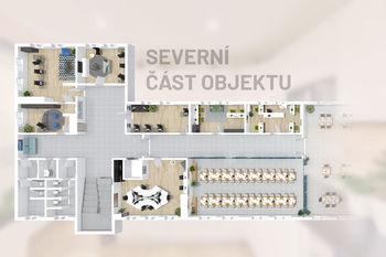 Severní část budovy - Prodej obchodních prostor 4000 m², České Budějovice