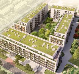 Domy ve výstavbě - Prodej bytu 3+kk v osobním vlastnictví 84 m², České Budějovice