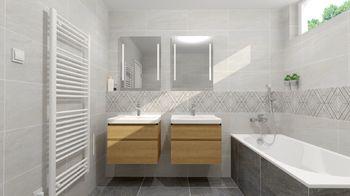 Koupelna - Prodej bytu 3+kk v osobním vlastnictví 84 m², České Budějovice