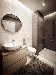 Koupelna se sprchovým koutem - Prodej bytu 3+kk v osobním vlastnictví 84 m², České Budějovice